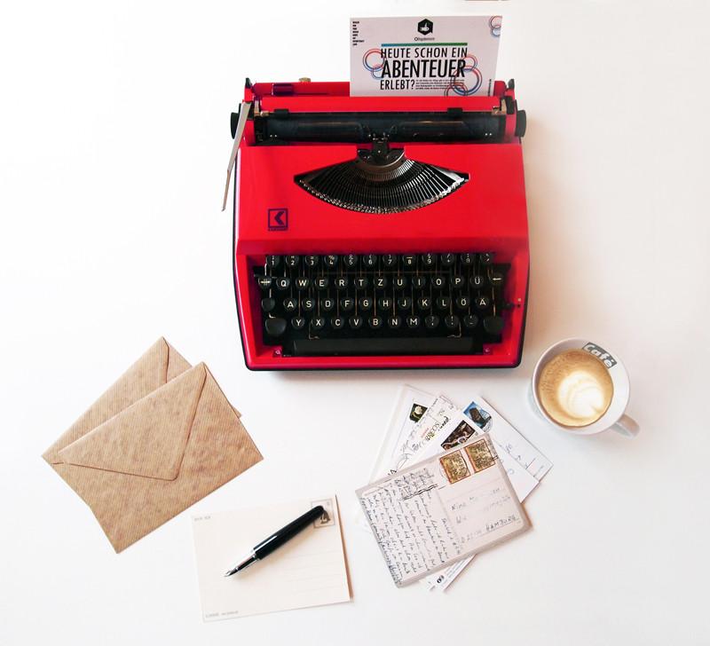 Alltagsabenteurer Alltagsabenteuer Postcrossing Postkarten versenden Urlaubspost Karten Freizeit Schreibmaschine Kaffee Urlaub