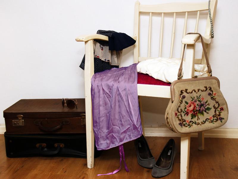 Alltagsabenteurer Alltagsabenteuer Kleidertauschparty Kleidertausch-Party Vintage-Flohmarkt alter Koffer
