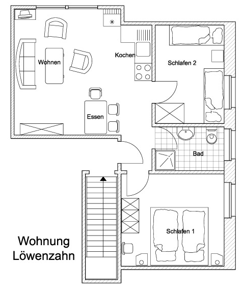 Grundriss Wohnung Löwenzahn