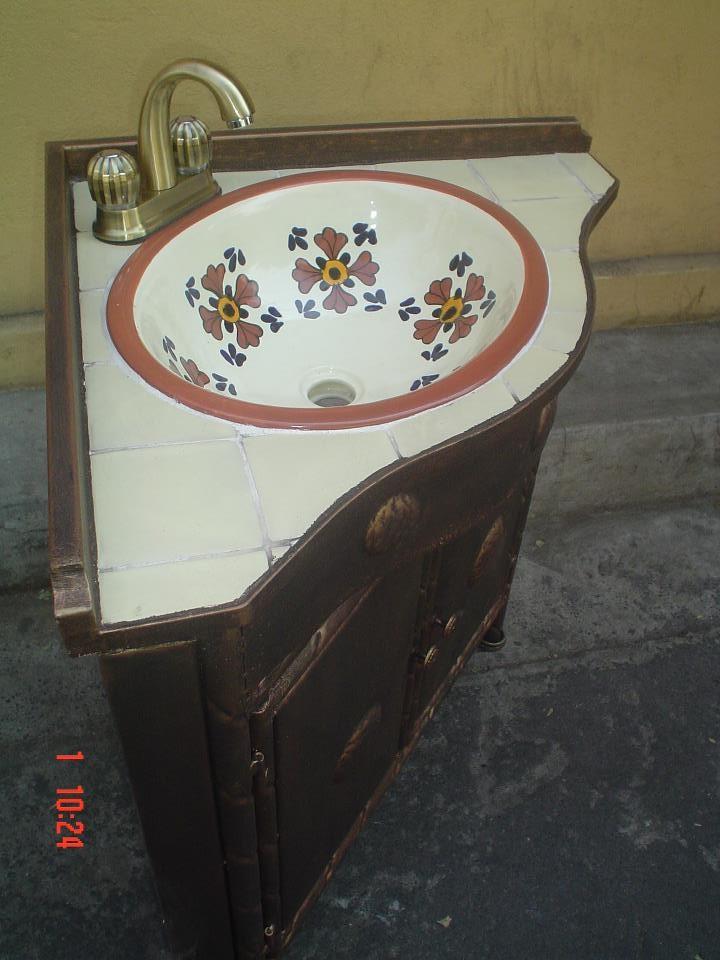 Muebles Para Baño Puebla:Muebles de Talavera para Baños – Rústicos Artesanales – Talavera