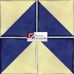 Azulejo Talavera modelo Arlequín Azul en 10.5 x 10.5 cm, ideal para baños y cocinas mexicanas lo encuentras en Rústicos Artesanales visítanos en nuestra web www.rusticosartesanales.com