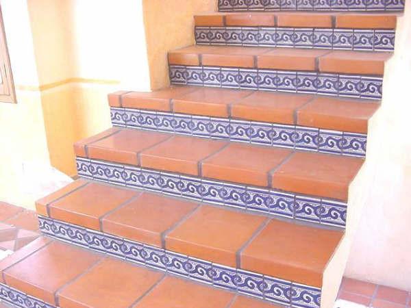 Escaleras o peraltes r sticos artesanales talavera for Pisos para escaleras de concreto