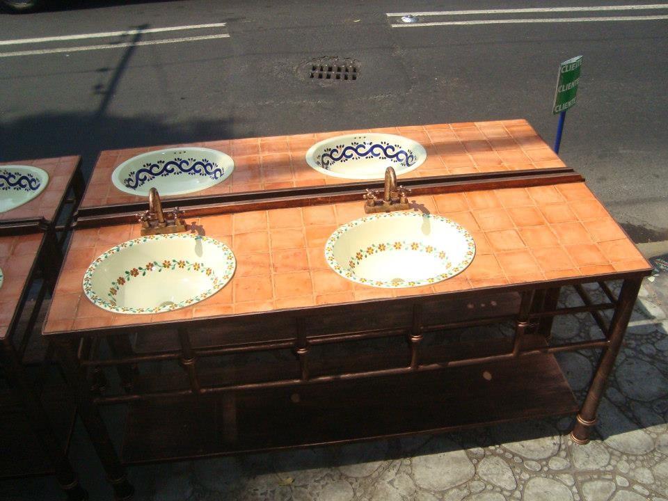 Baños Rusticos Artesanales:Muebles de Talavera para Baños – Rústicos Artesanales – Talavera