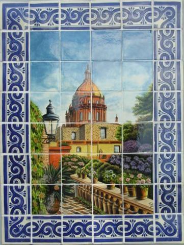 Bodegones y murales de talavera r sticos artesanales talavera azulejo talavera tejas de - Murales de azulejos ...