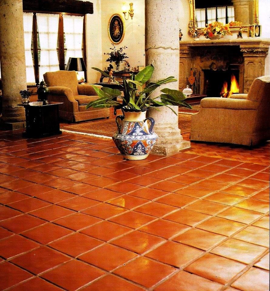 Loseta de barro r sticos artesanales talavera for Losetas para pisos de casas