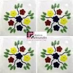 Azulejo Talavera modelo Bouquet en 10.5 x 10.5 cm, ideal para baños y cocinas mexicanas lo encuentras en Rústicos Artesanales visítanos en nuestra web www.rusticosartesanales.com