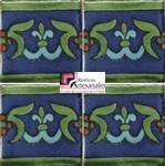Azulejo Talavera modelo Granada en 10.5 x 10.5 cm, ideal para baños y cocinas mexicanas lo encuentras en Rústicos Artesanales visítanos en nuestra web www.rusticosartesanales.com