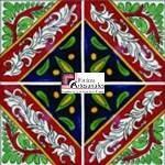 Azulejo Talavera modelo Jiutepec en 10.5 x 10.5 cm, ideal para baños y cocinas mexicanas lo encuentras en Rústicos Artesanales visítanos en nuestra web www.rusticosartesanales.com