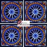 Azulejo Talavera modelo Cuerda en 10.5 x 10.5 cm, ideal para baños y cocinas mexicanas lo encuentras en Rústicos Artesanales visítanos en nuestra web www.rusticosartesanales.com