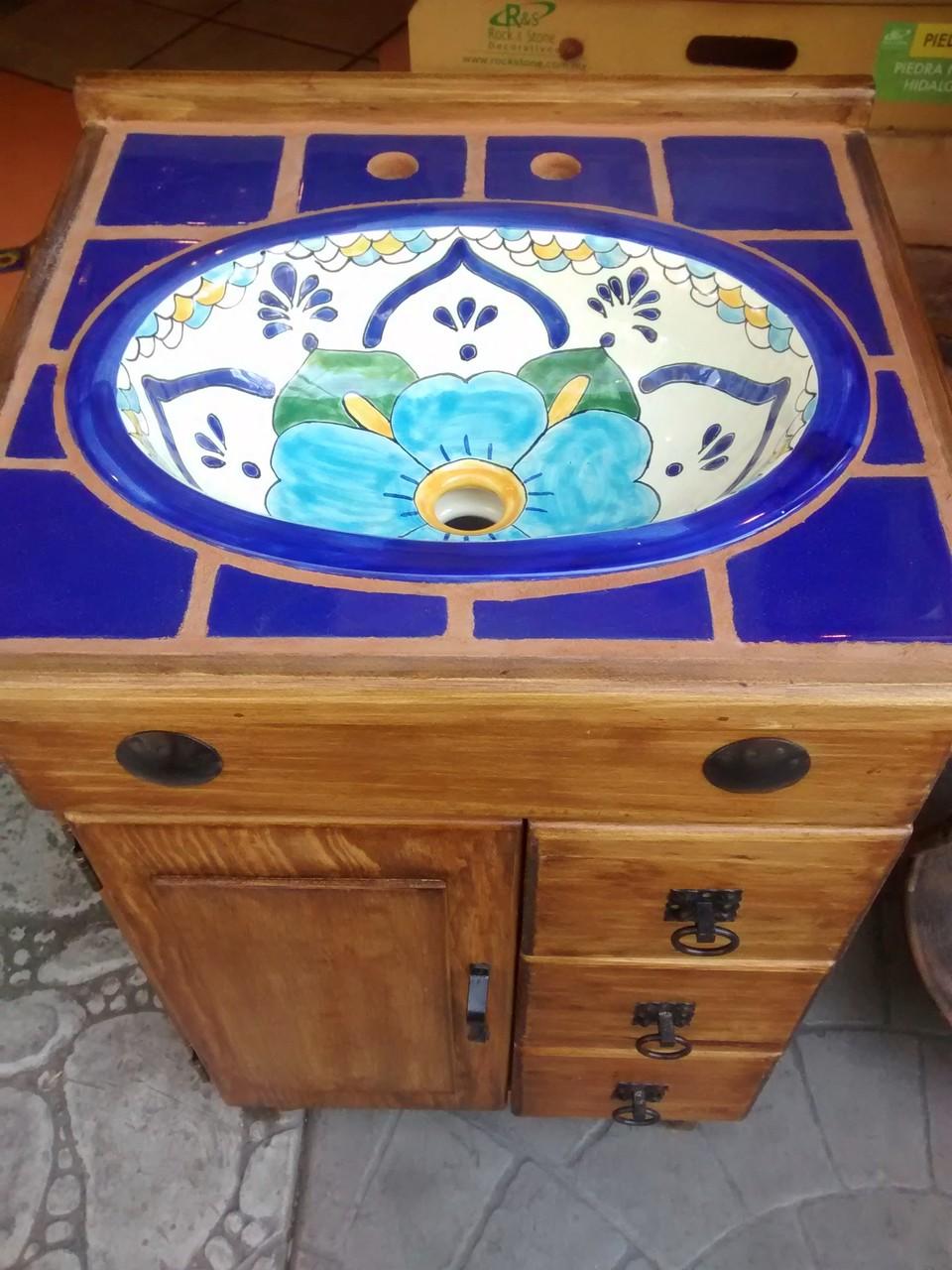 Baños Rusticos De Talavera:- Talavera – Azulejo Talavera – Tejas de Barro – Losetas de