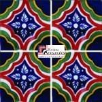 Azulejo Talavera modelo Palacio Especial en 10.5 x 10.5 cm, ideal para baños y cocinas mexicanas lo encuentras en Rústicos Artesanales visítanos en nuestra web www.rusticosartesanales.com