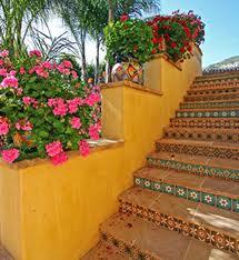 Escaleras o peraltes r sticos artesanales talavera azulejo talavera tejas de barro - Jardin de bambu talavera ...