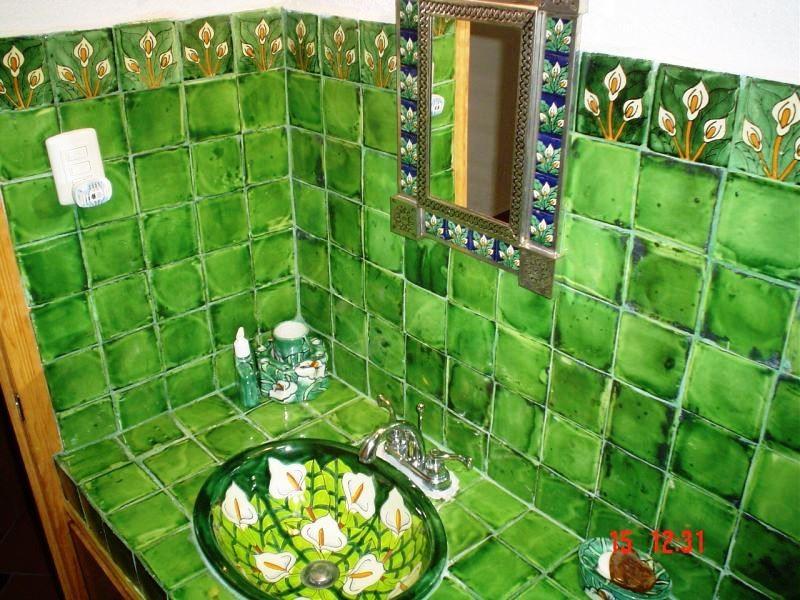 Baño Verde Deslavado con Alcatráz
