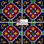 Azulejo Talavera modelo Dolores en 10.5 x 10.5 cm, ideal para baños y cocinas mexicanas lo encuentras en Rústicos Artesanales visítanos en nuestra web www.rusticosartesanales.com