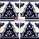 Azulejo Talavera modelo Sierra III en 10.5 x 10.5 cm, ideal para baños y cocinas mexicanas lo encuentras en Rústicos Artesanales visítanos en nuestra web www.rusticosartesanales.com