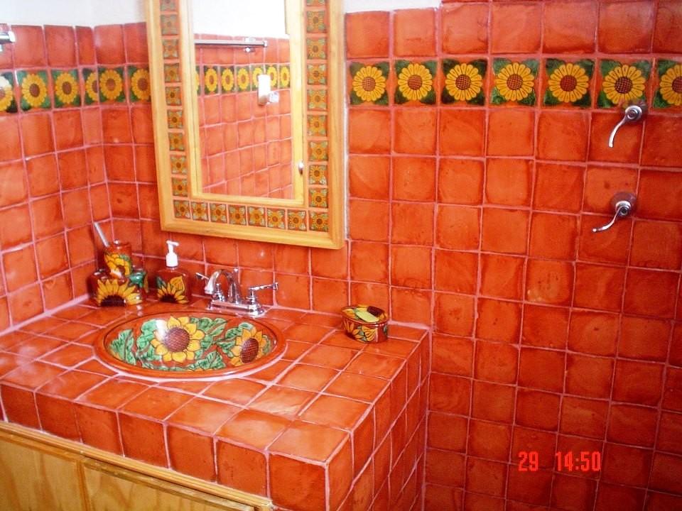 Ba os mexicanos r sticos artesanales talavera for Azulejos artesanales