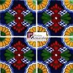 Azulejo Talavera modelo Delicias en 10.5 x 10.5 cm, ideal para baños y cocinas mexicanas lo encuentras en Rústicos Artesanales visítanos en nuestra web www.rusticosartesanales.com