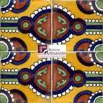 Azulejo Talavera modelo Indian en 10.5 x 10.5 cm, ideal para baños y cocinas mexicanas lo encuentras en Rústicos Artesanales visítanos en nuestra web www.rusticosartesanales.com