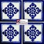 Azulejo Talavera modelo Anita Azul en 10.5 x 10.5 cm, ideal para baños y cocinas mexicanas lo encuentras en Rústicos Artesanales visítanos en nuestra web www.rusticosartesanales.com