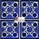 Azulejo Talavera modelo Damasko Azul en 10.5 x 10.5 cm, ideal para baños y cocinas mexicanas lo encuentras en Rústicos Artesanales visítanos en nuestra web www.rusticosartesanales.com