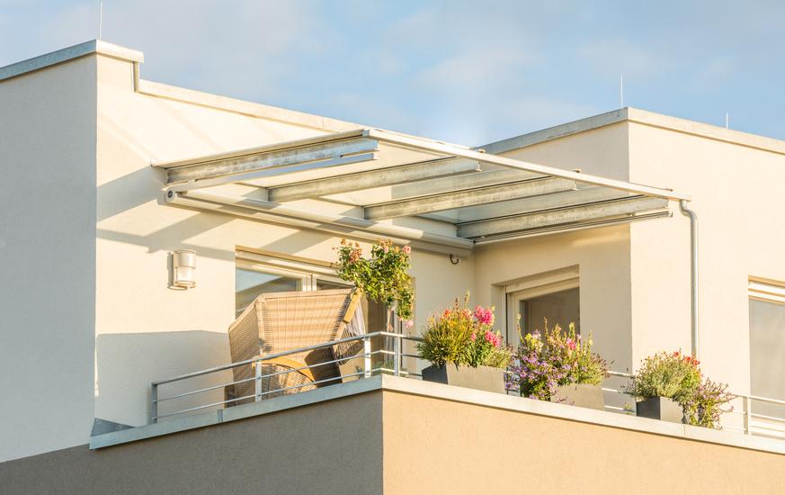 VSG Glas für Terrassenüberdachung und Balkondach