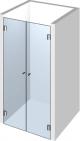 Doppel Duschtür aus Glas nach Maß