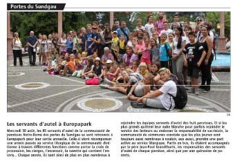 Journal L'Alsace - 08/09/2017