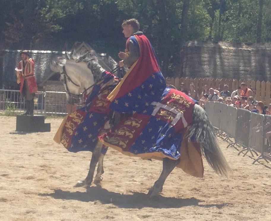 Une enluminure de chevalier, en vrai !