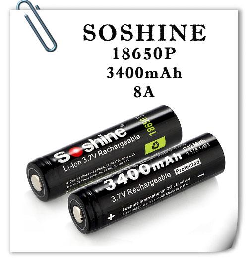 Soshine 18650P-3400