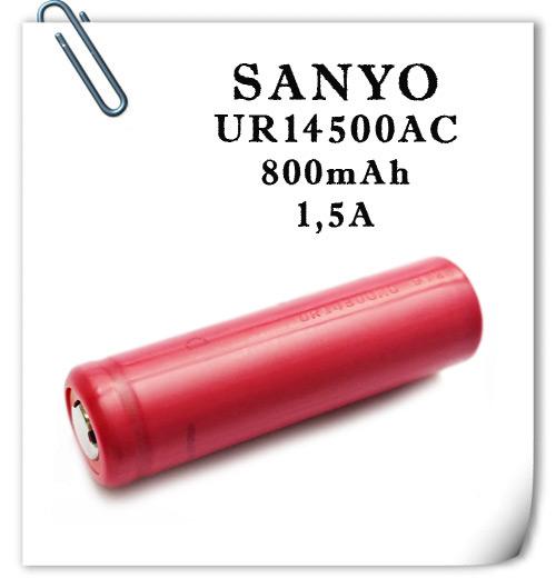 Sanyo UR14500AC 800mAh  1,5А