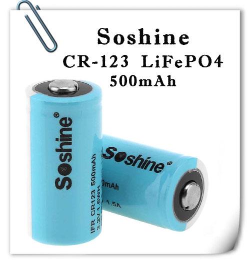 Soshine CR123 LiFePO 500mAh