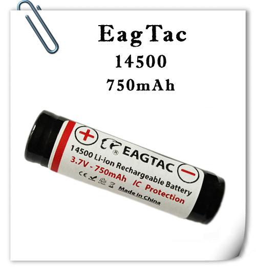 EagTac 14500 750mAh 3А защищенный