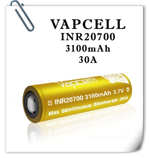 Vapcell INR20700 3100mAh 30A