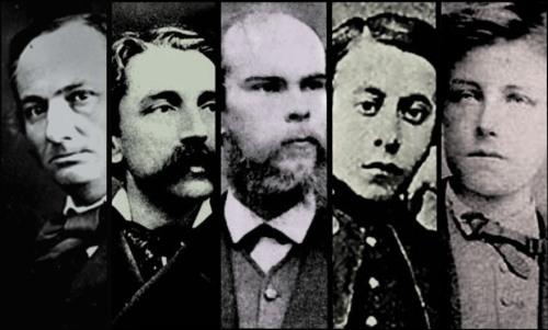 Charles Baudelaire, Stéphane Mallarmé, Paul Verlaine, Tristan Corbière, Arthur Rimbaud