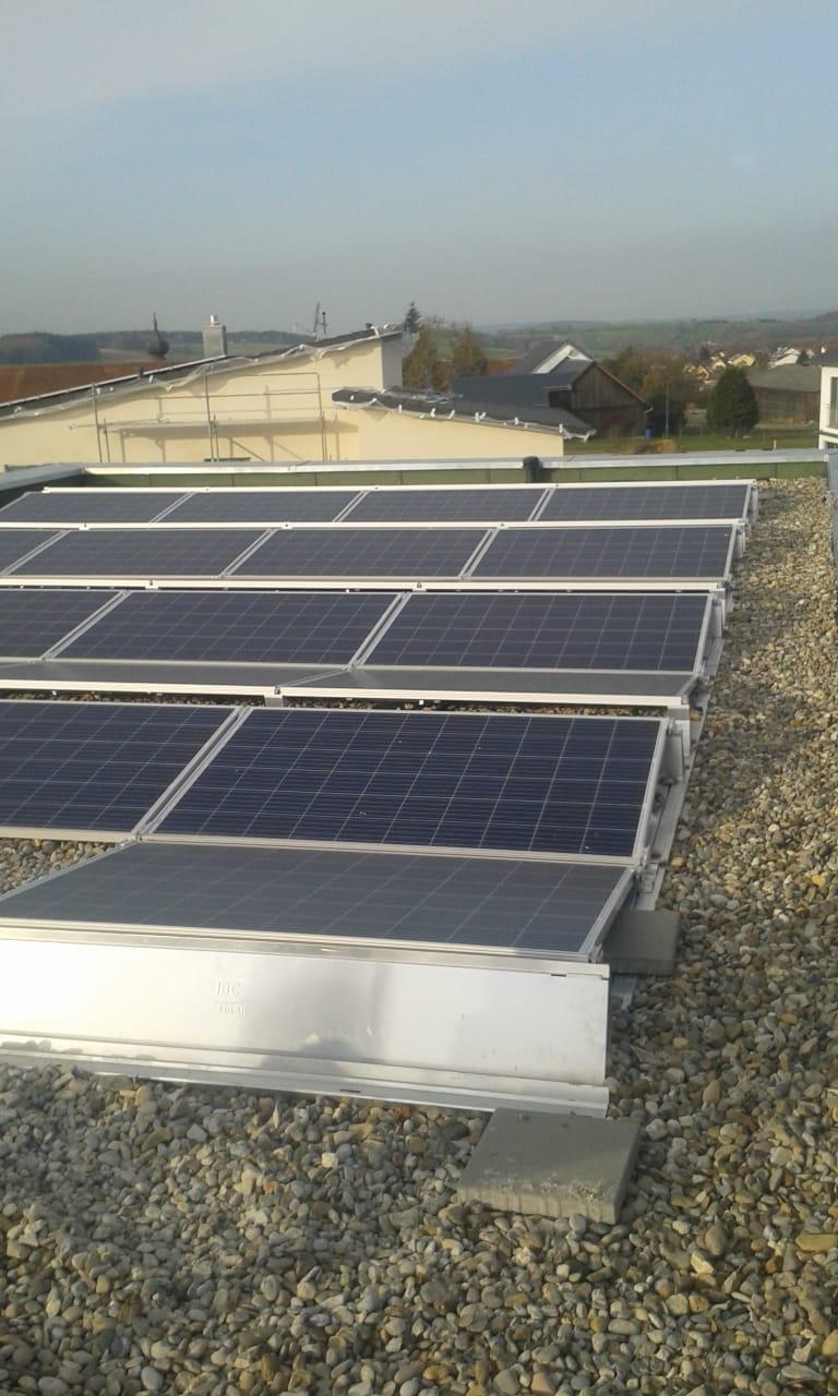 Photovoltaikanlage Ost-/West BayWa Aufständerung