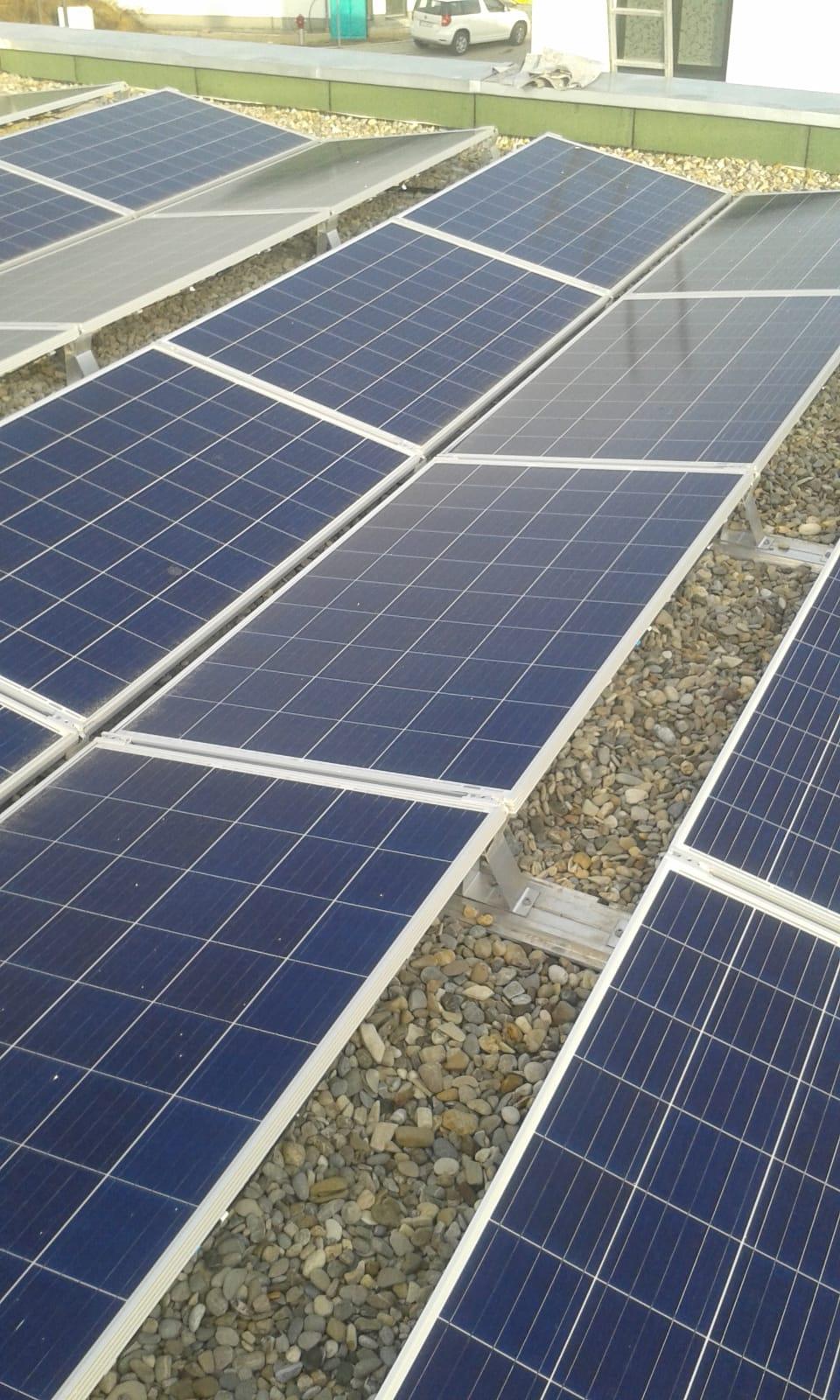 Solarmodule Flachdachfolie