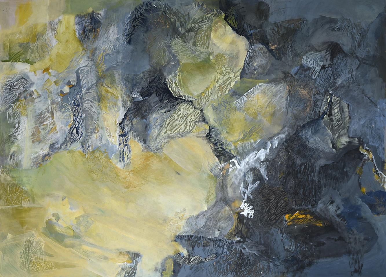 Příběh kamene I * akryl na sololitu * 140/100