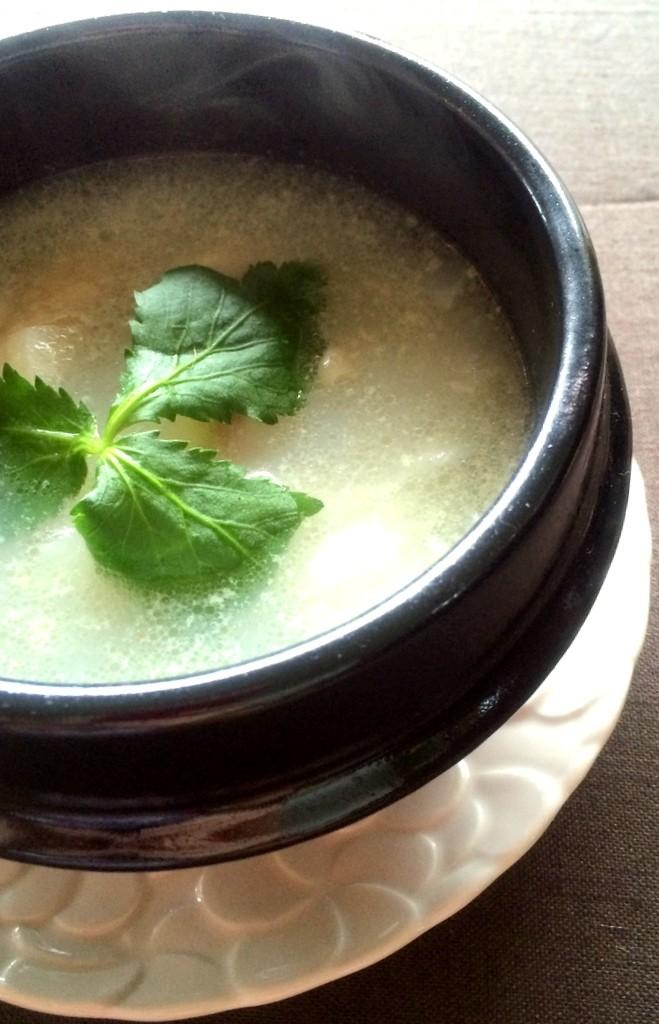 鶏と大根のシンプル鍋と〆素麺