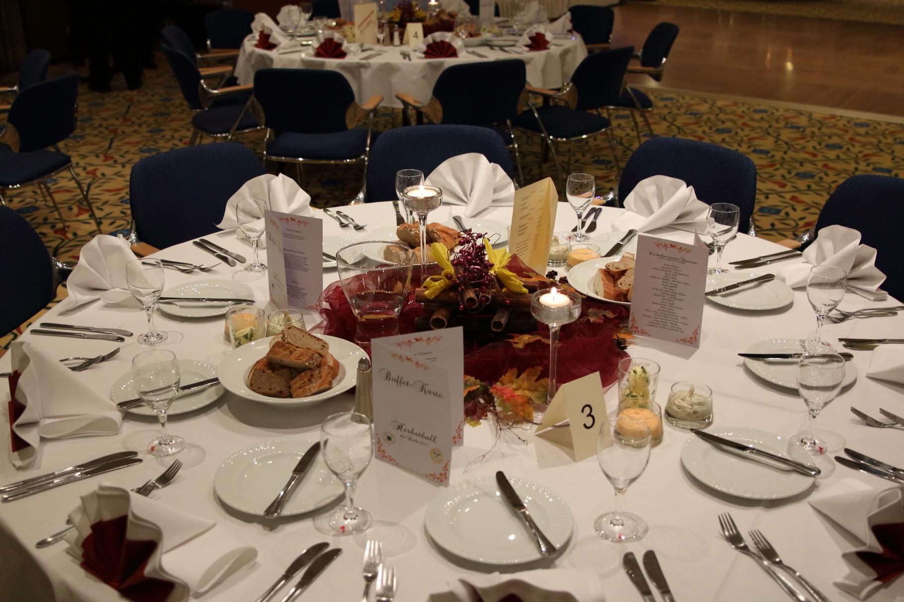 Die schön gedeckten Tische im Michel-Hotel