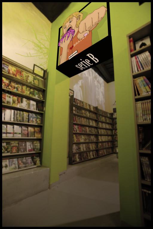 Interior de videoclub