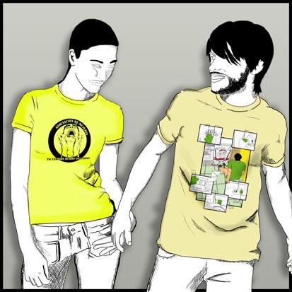Camisetas para la asociación de mujeres en contra del machismoen los trabajos del hogar