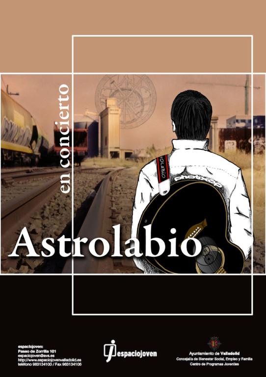 """Cartel para concierto de un cantautor Vallisoletano """"ASTROLABIO"""""""