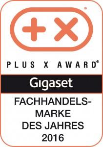 """Gigaset erhält Plus X Award als """"Fachhandelsmarke des Jahres 2016""""!"""