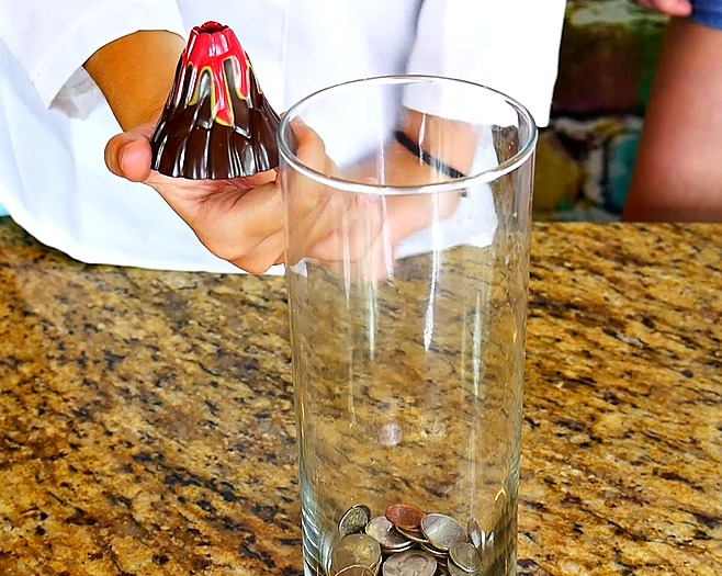 The Wild Adventure Girls, miniture volcano, diy, how to make a volcano steps
