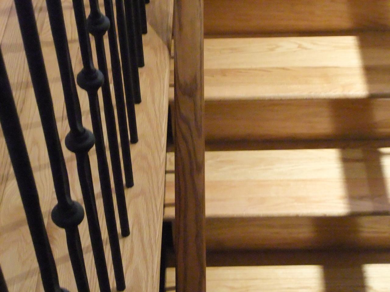 Manque d'espace entre la rampe et le plancher