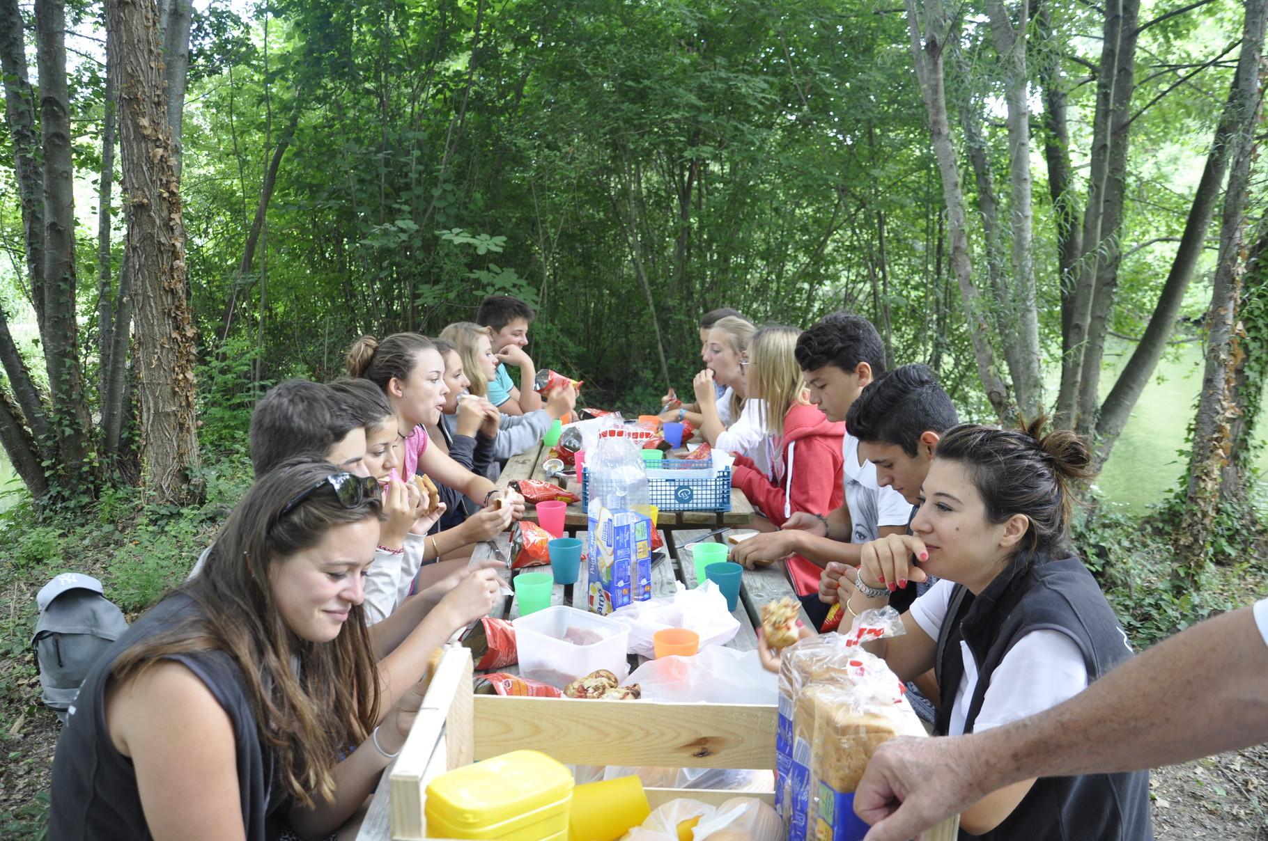 Journée rafting avec les ados