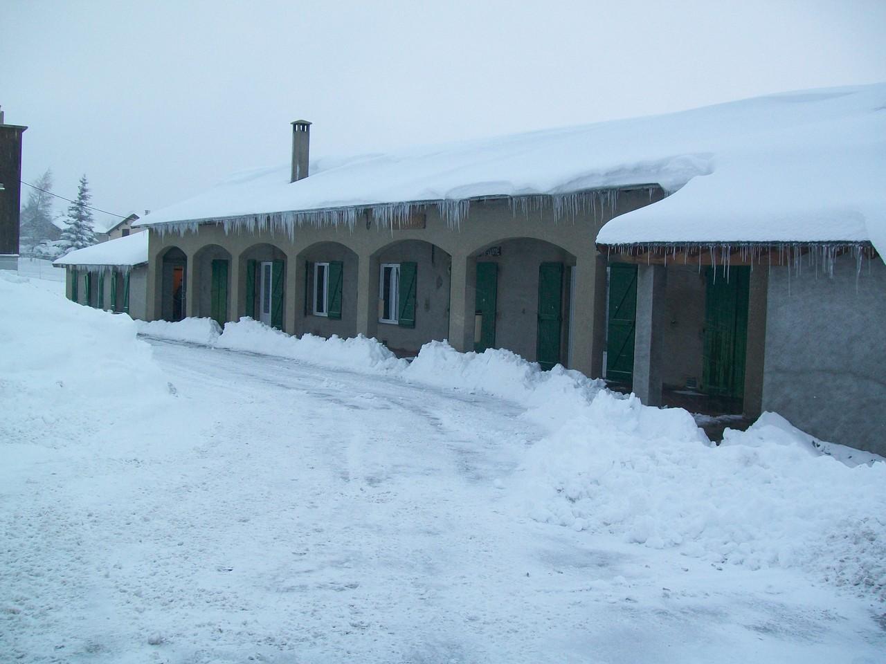 Le centre l'hiver