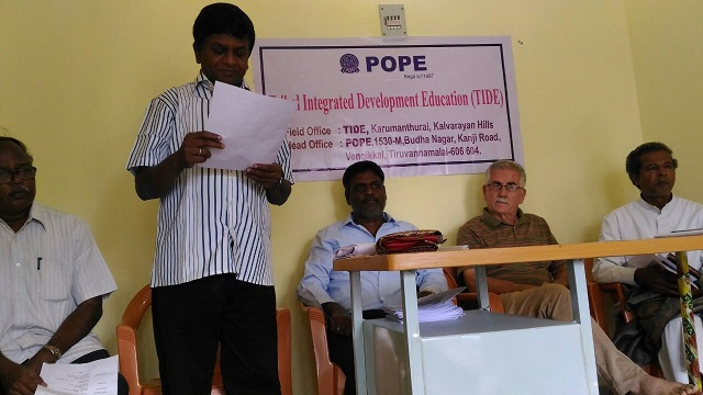 Rev. Fr. Clement Rosario, secretary of Legal Commission, Vellore Diocese giving his special address.