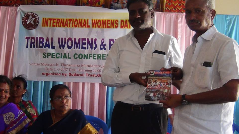 RL ROSARIO released the newsletter on Tribal rights and gave them to Mr. Thirunavukkarasu.