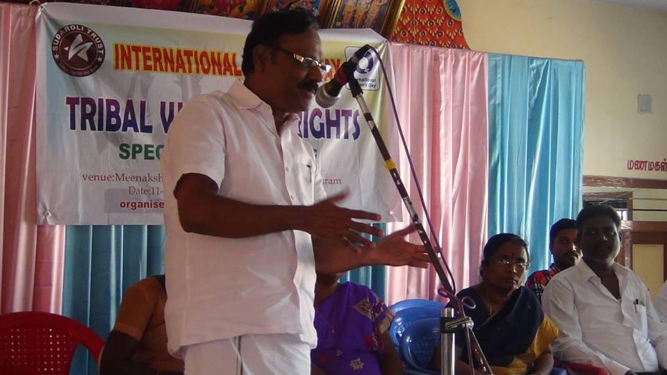 Discours de M. Sudaroli Sundaram, fondateur de l'ONG Sudaroli Trust.